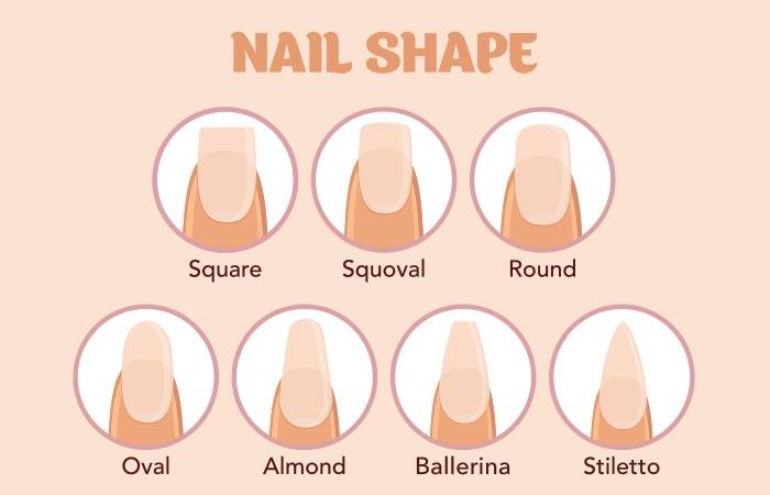Diffe Nail Shapes Pinit