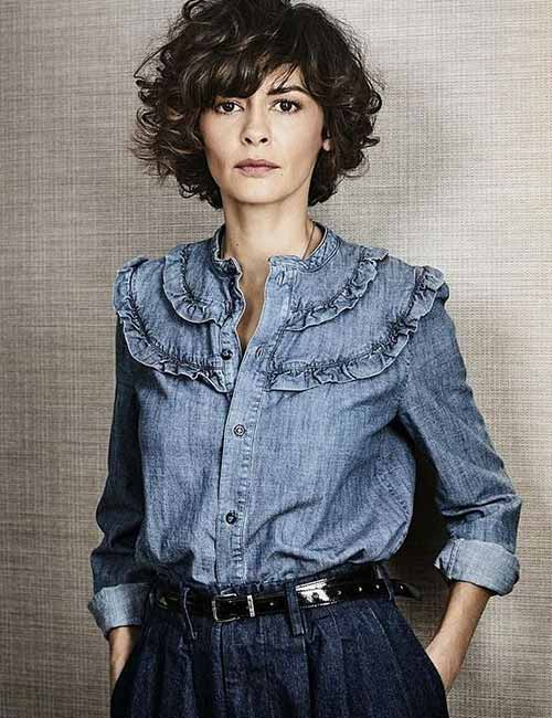 Best Hairstyles For Heart-shaped Face - Audrey Tautou