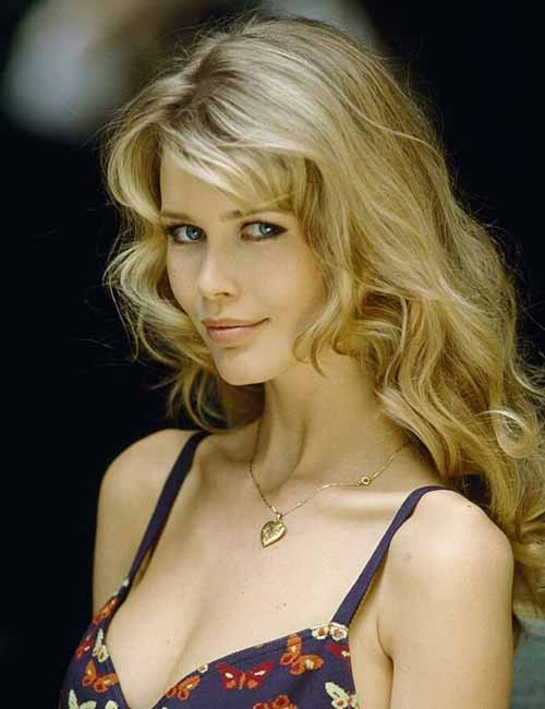 Best Hairstyles For Heart-shaped Face - Claudia Schiffer