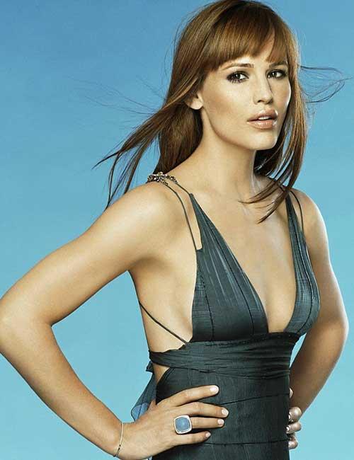 Best Hairstyles For Heart-shaped Face - Jennifer Garner