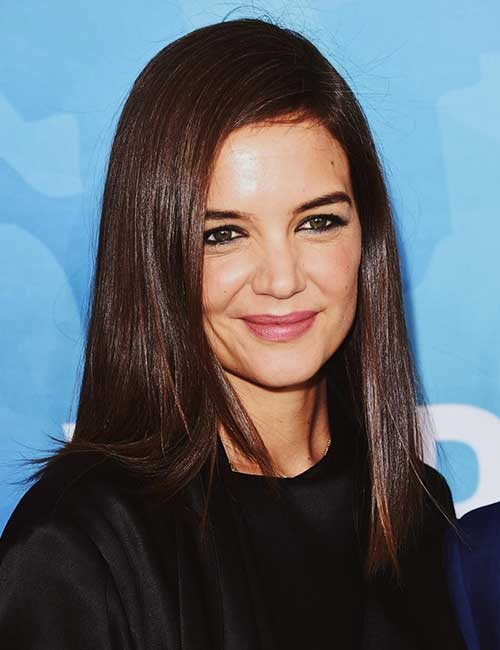 Best Hairstyles For Heart-shaped Face - Katie Holmes