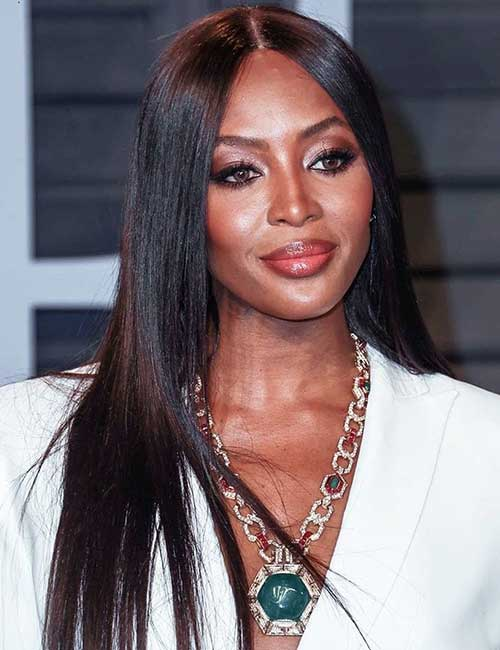 Best Hairstyles For Heart-shaped Face - Naomi Campbell