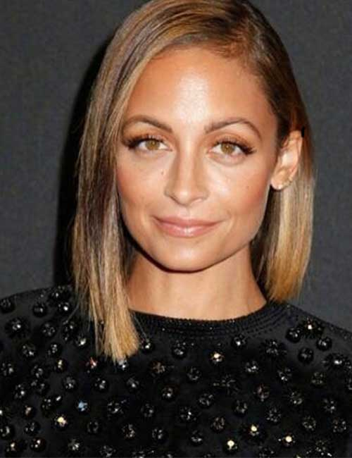 Best Hairstyles For Heart-shaped Face - Nicole Richie Madden