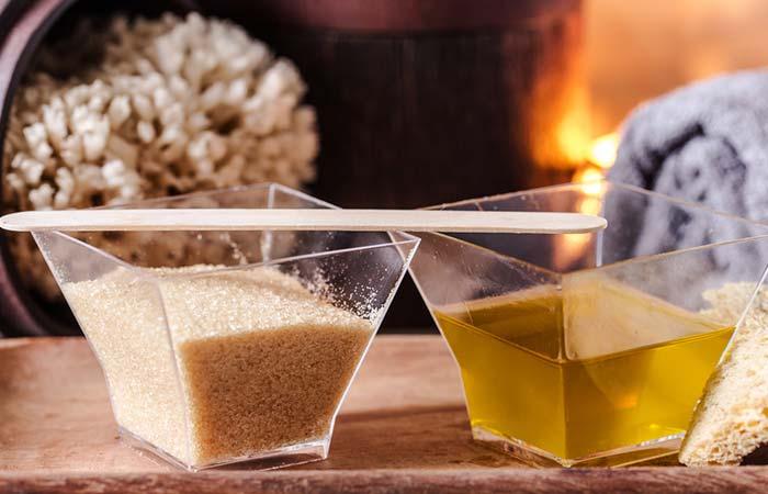 Brown Sugar And Olive Oil Exfoliating Foot Scrub
