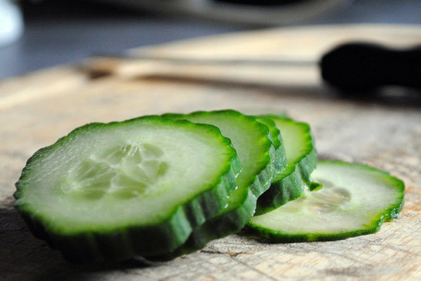 Cucumber for extra shine and radience