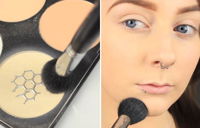 How To Hide Pimples With Makeup - Step 5 Set With A Powder