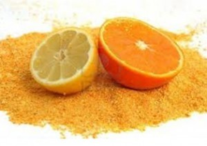 orange and lemon peel powder