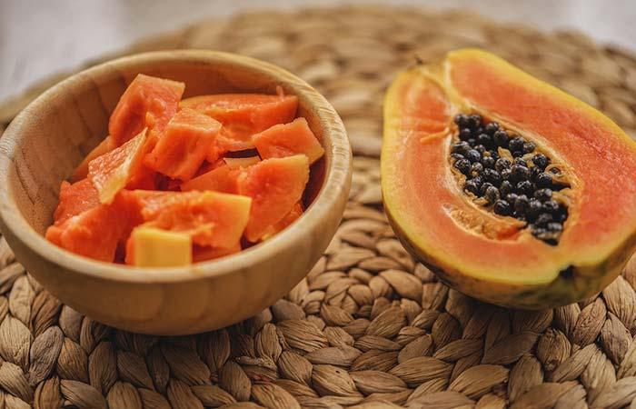 13. Besan And Papaya Face Pack