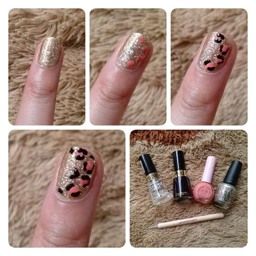 Easy Nail Designs For Beginners - 10. Gold Glitter Nail Art