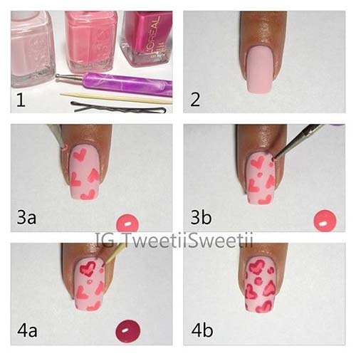 Easy Nail Designs - 17. Valentines Nail Art Design