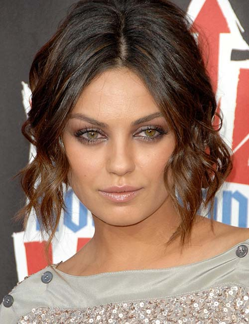 Short Hairstyles For Round Faces - Dented Curls Short Bob