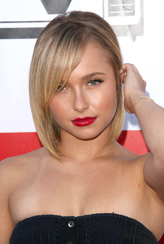 4. Short Bob With Side Swept Bangs