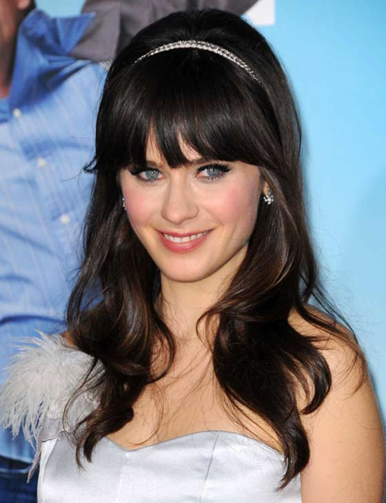 Best Layered Hairstyles With Bangs - Blunt Bangs Accented By A Headband