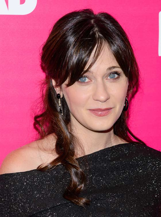 Best Layered Hairstyles With Bangs - Swept Back Curls With Center Parted Bangs