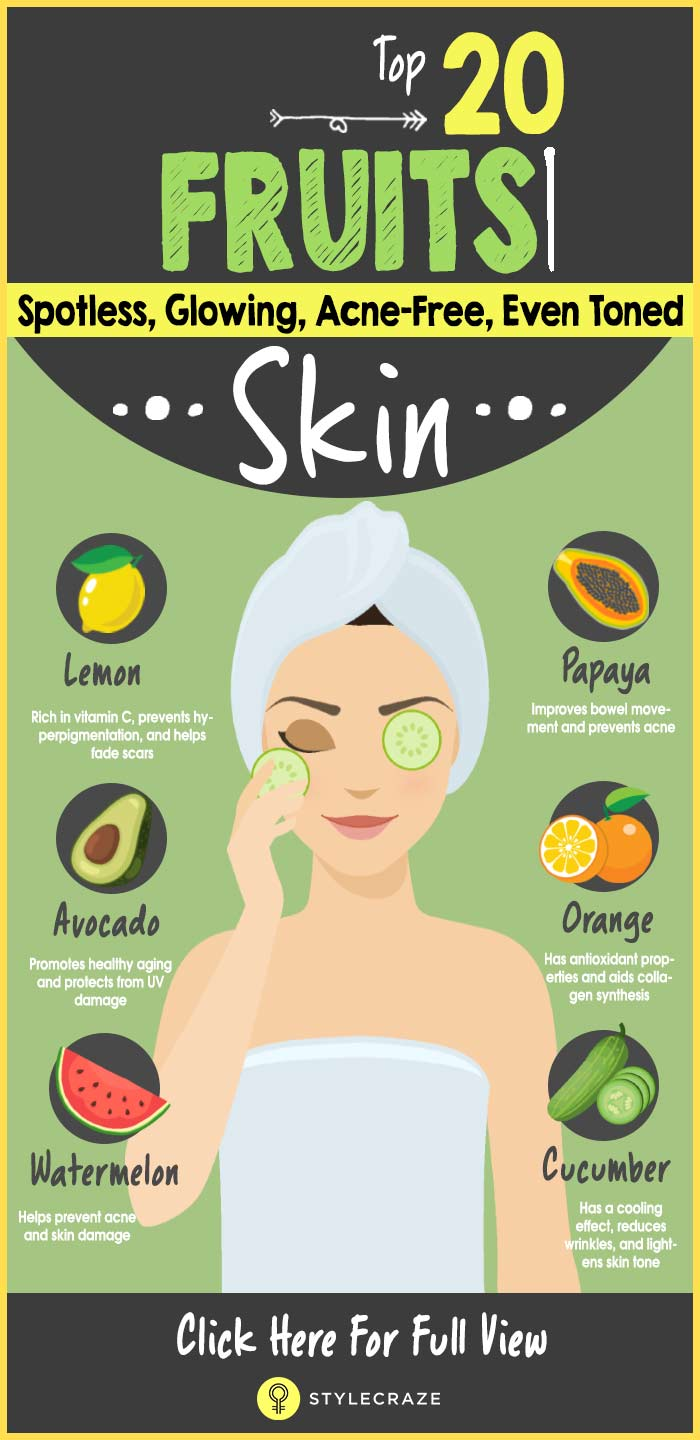 Fruits for Glowing Skin Infographic