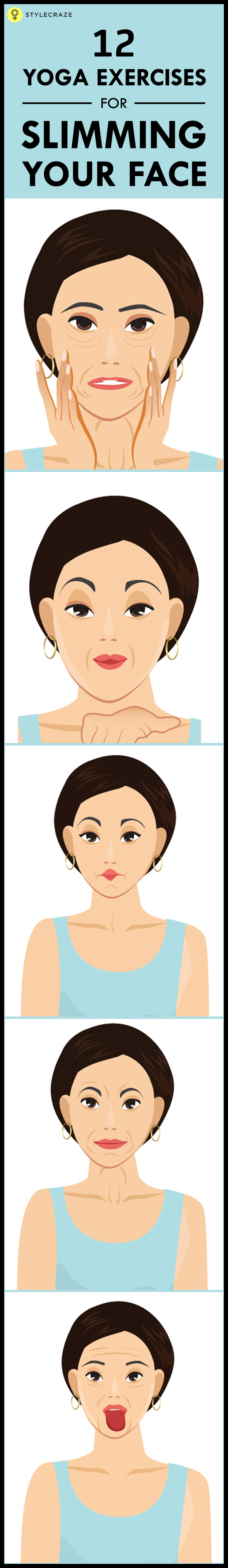 12 yoga excerises fo slimming your face www.stylecraze.comarticles10-yoga-exercises-for-slimming-your-face