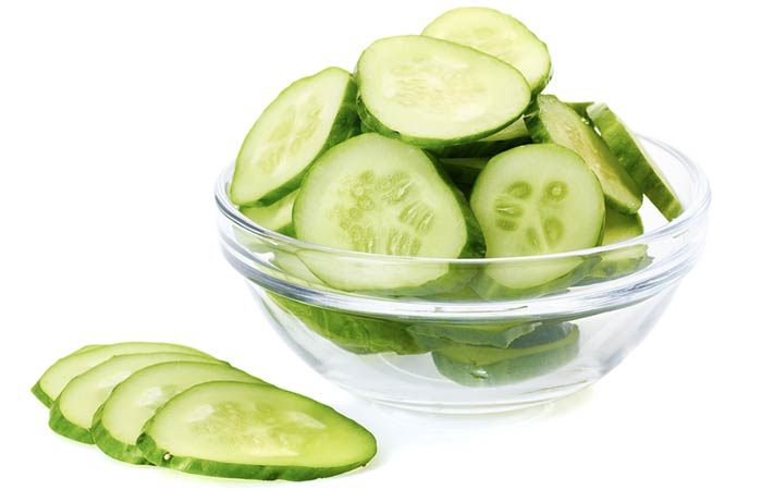 15. Potato, Cucumber, And Baking Soda Face Pack