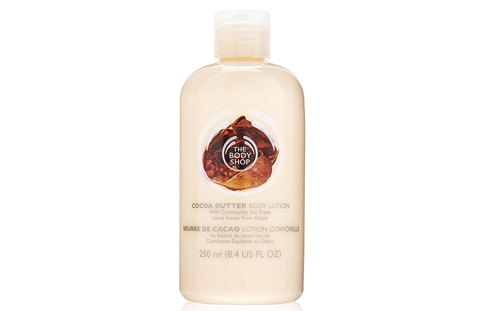 2. The Body Shop Cocoa Butter Hand & Body Lotion