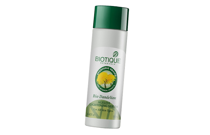 Skin Lightening Creams- Biotique Bio Dandelion Ageless Lightening Serum