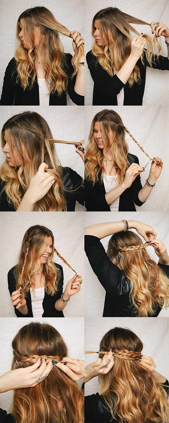 7. Boho Braids Back Headband