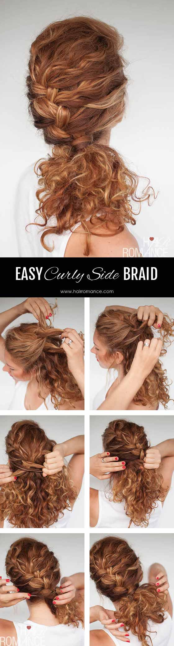 Easy Curly Side Braid