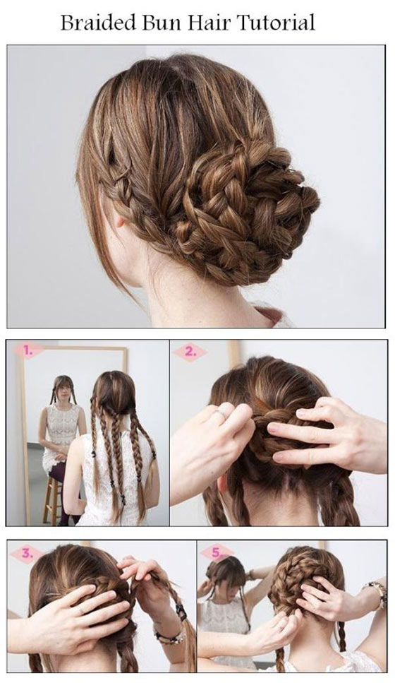 Charming Five Braids Bun