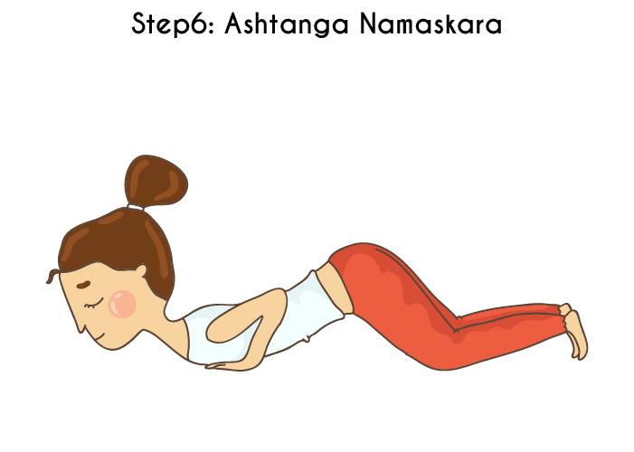 Step 6 - Ashtanga Namaskara Or The Salute With Eight Parts - Surya Na