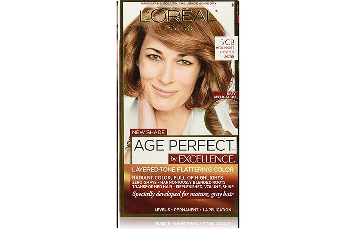 11. L'Oreal Paris Age Perfect By Excellence – Medium Soft Chestnut Brown