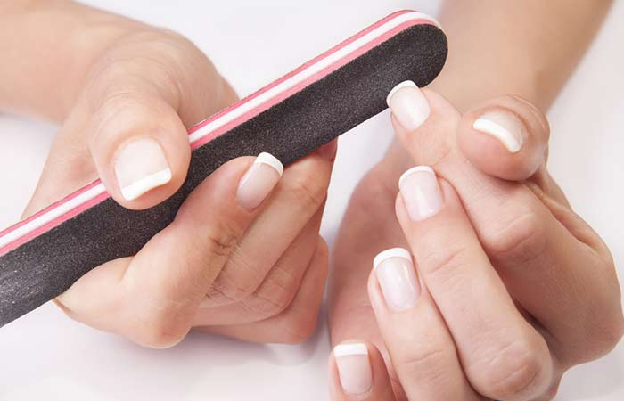 12. File Your Nails In One Direction
