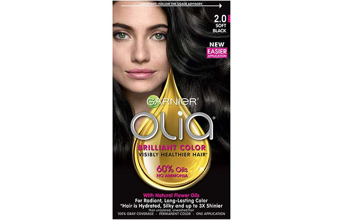 Garnier Olia Brilliant Color U2013 Soft Black