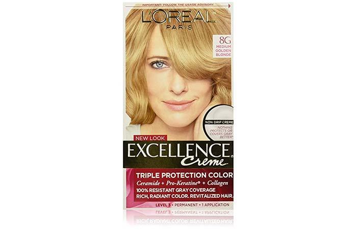3. L'Oreal Paris Excellence Creme – Medium Golden Blonde