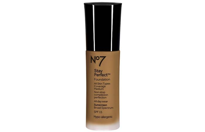 Best High Coverage Foundations - 9. Boots No7 Stay Perfect Foundation