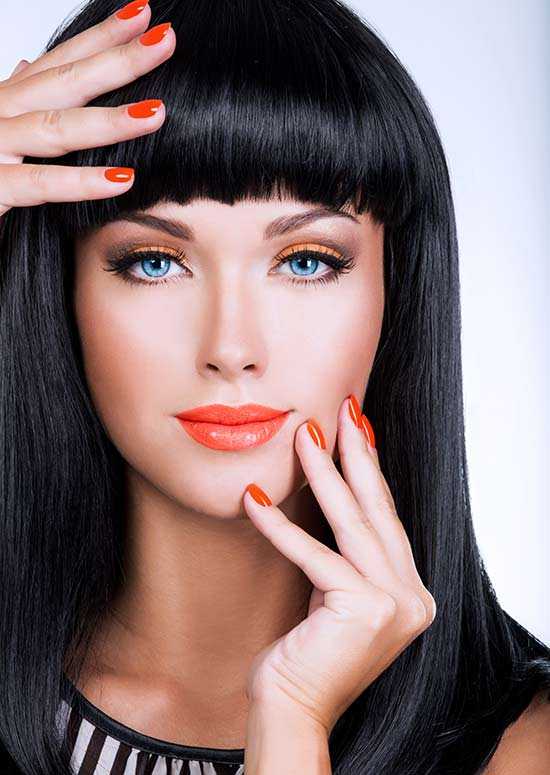 Latest Hairstyles For Long Hair - Blunt Bangs