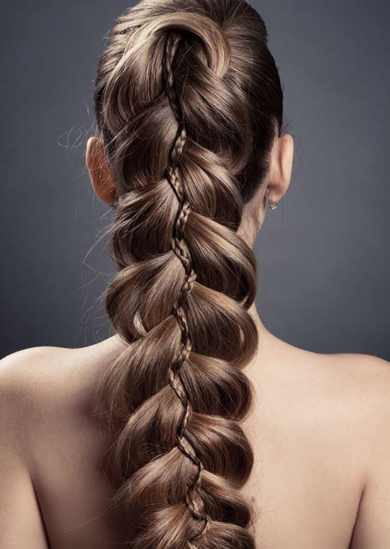 Latest Hairstyles For Long Hair   Braided Ponytail Pinit