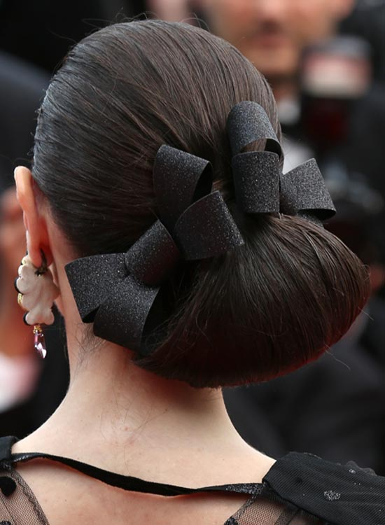 Low-and-Folded-Side-Bun-with-Bows