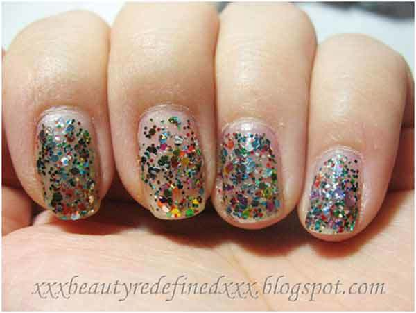 nyx multi glitter nail polish