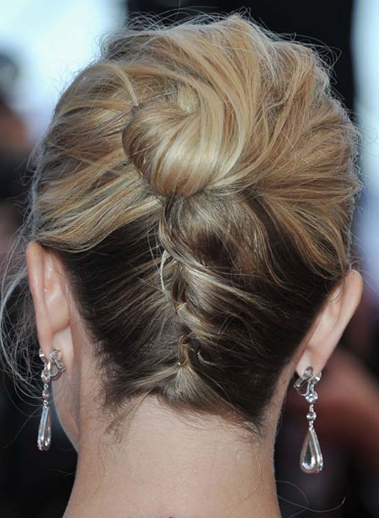 Upside-Down-French-Braid-with-High-Donut-Bun