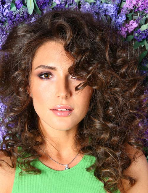10. Stepped Layers On Bouncy Curls