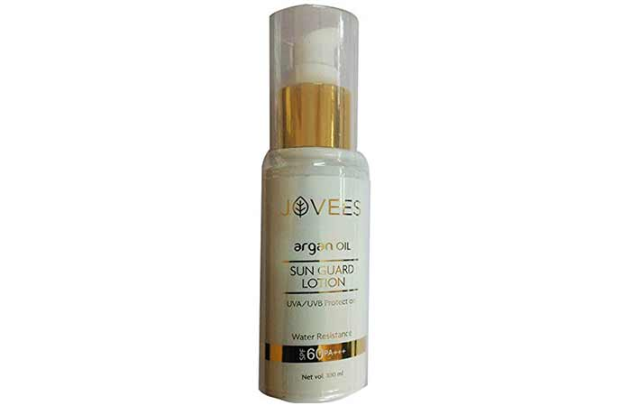 Best Sunscreens In India - Jovees Argan Sun Guard Lotion SPF 60 PA++++