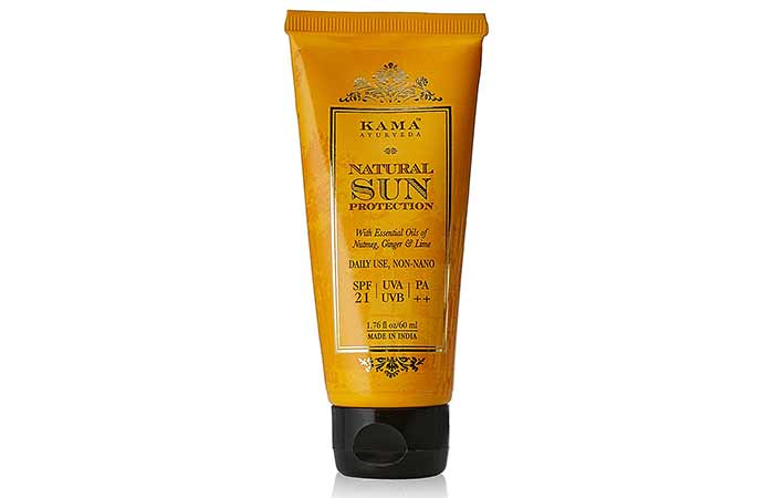 Best Sunscreens In India - Kama Ayurveda Natural Sun Protection SPF 21