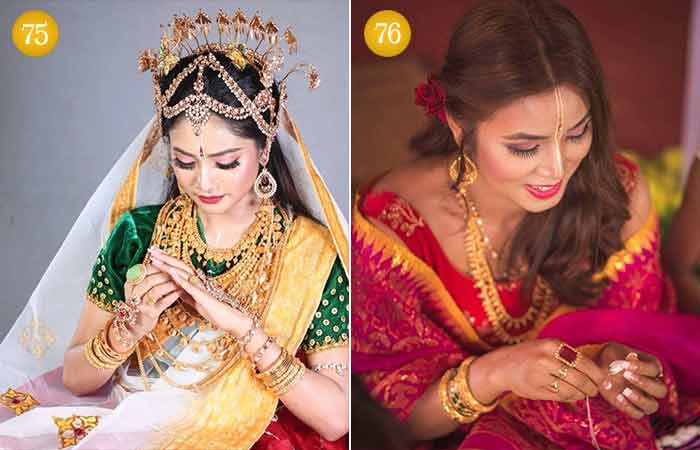 Beautiful Indian Bridal Makeup Looks - Manipuri Bridal Look