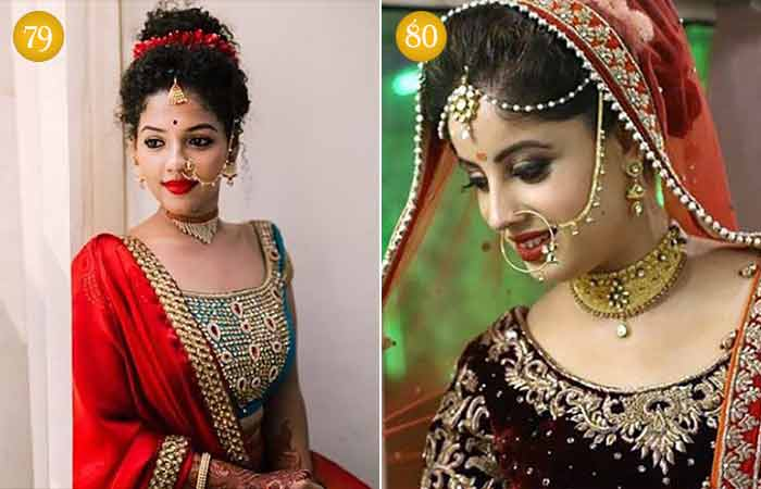 Indian Modern Brides in Heavily Embroidered Wedding Attire
