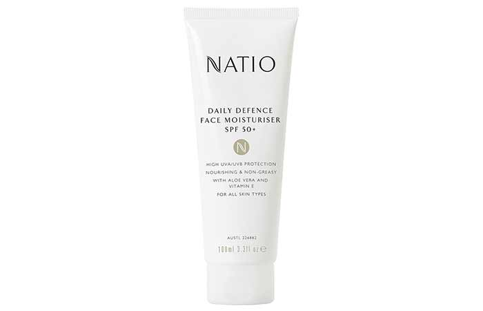 Best Sunscreens In India - Natio Daily Defence Face Moisturizer SPF 50+