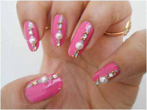 shoen in the pic apply top coat it protects nails from weather damage ...