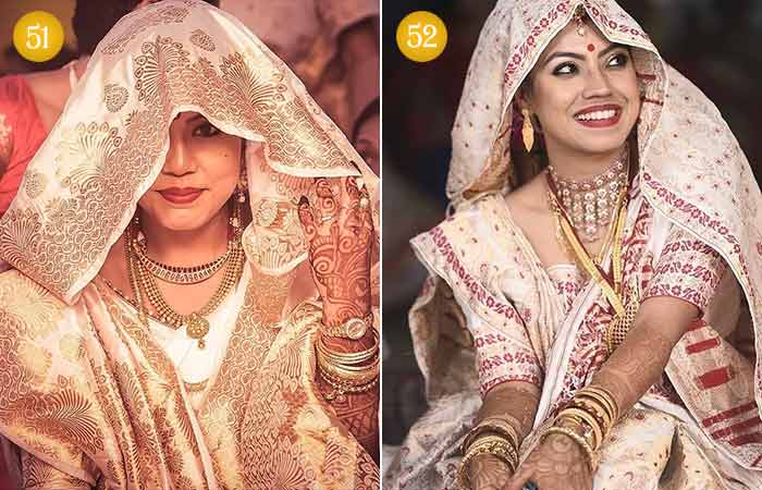 Beautiful Indian Bridal Makeup Looks - Assamese Brides 3 & 4