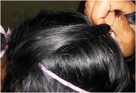 side band for hair