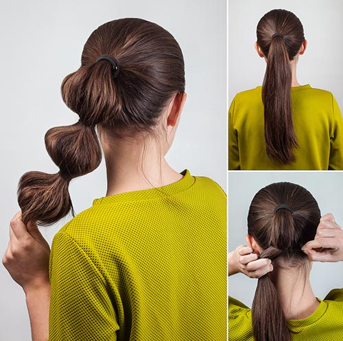 15. Bubble Ponytail
