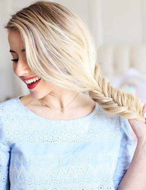 15. Relaxed Side Fishtail Braid