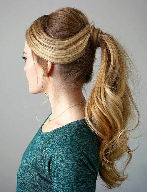 2. Wrapped Ponytail