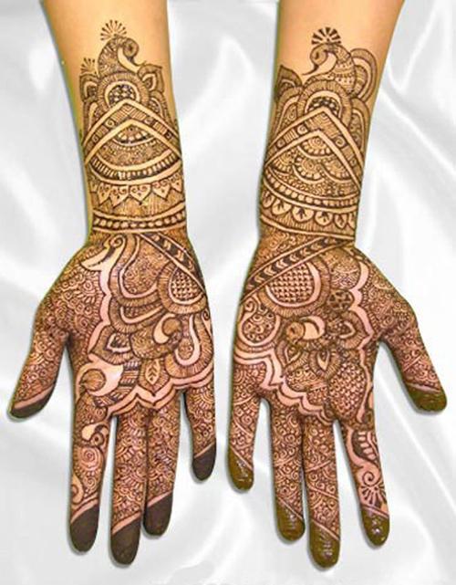 Arabic Henna Mehndi Designs For Brides